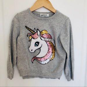 H&M Sequin Unicorn Sweater